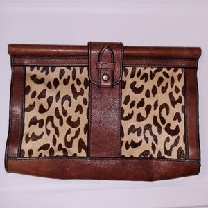 Vintage Cheetah Print Clutch Fossil bag